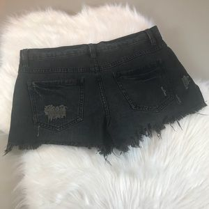 Free People Shorts - Free People Black Distressed Cutoff Shorts